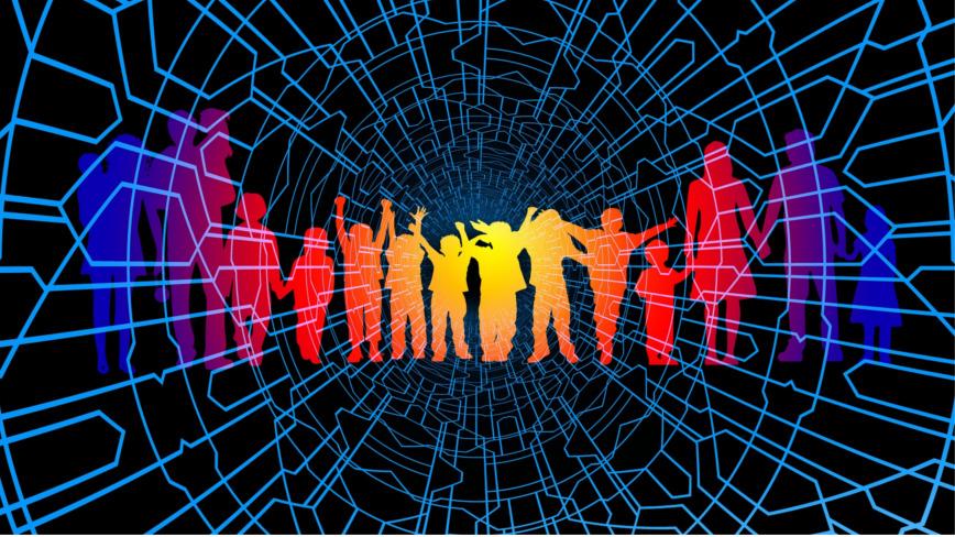 Das Bild zeigt, wie die Menschen in der VUKA-Welt miteinander vernetzt sind
