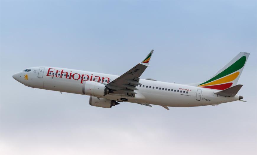 Das Foto zeigt ein Boeing 737 MAX Flugzeug der Ethiopian Airways, das am 10.03.2019 abstürzte. Eine Katastrophe als ERgebnis komplexer Driftvorgänge.