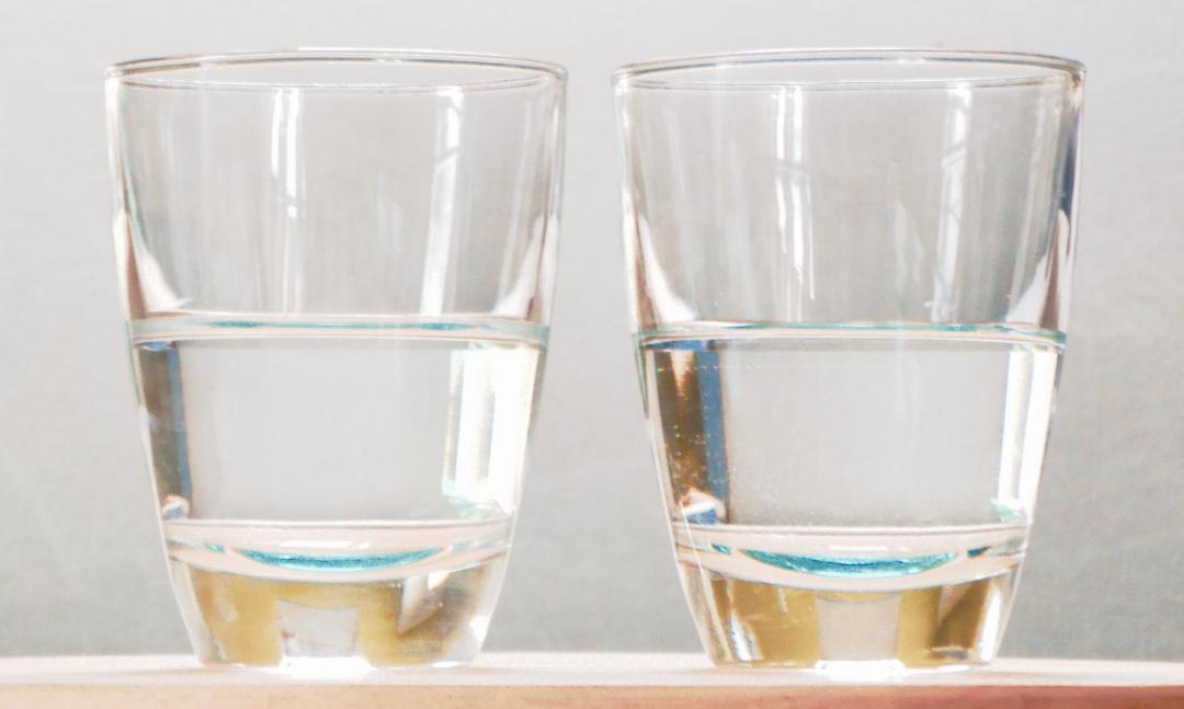 Ist das Glas halb voll oder halb leer?